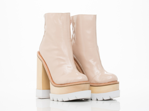 Jeffrey Campbell In Nude Box White Mulder Wood