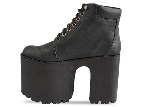 Jeffrey Campbell In Black Distressed Munster