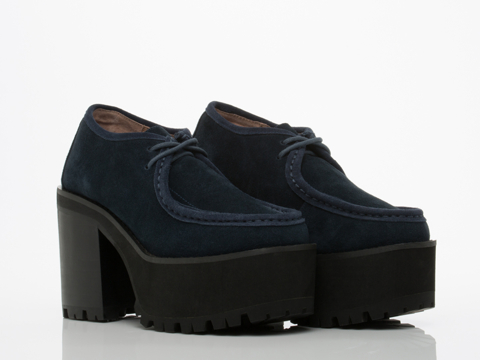 Jeffrey Campbell In Navy Suede Nebula