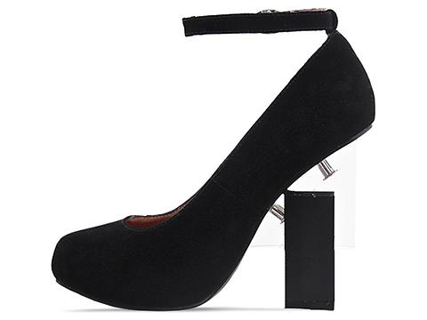 Jeffrey Campbell In Black Suede Neutra