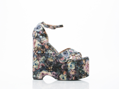 Jeffrey Campbell In Brown Floral Velvet Neveah X