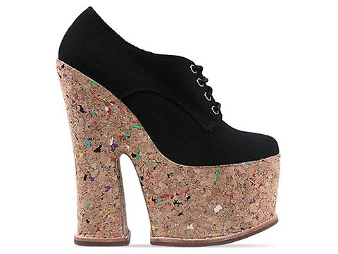 Jeffrey Campbell In Black Fabric Nico