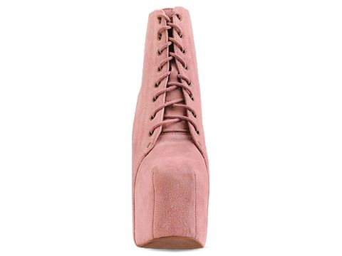 Jeffrey Campbell In Baby Pink Suede Night Lita