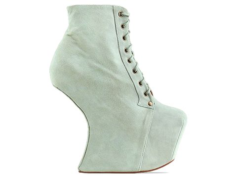 Jeffrey Campbell In Mint Suede Night Lita