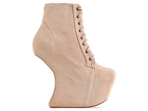 Jeffrey Campbell In Nude Suede Night Lita
