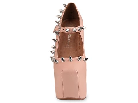 Jeffrey Campbell In Nude Silver Night Spike