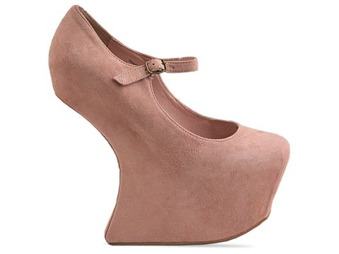 Jeffrey Campbell In Baby Pink Suede Night Walk
