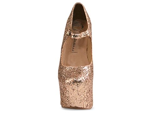 Jeffrey Campbell In Gold Glitter Night Walk