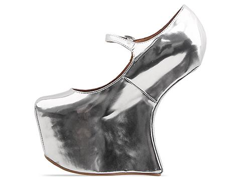 Jeffrey Campbell In Metallic Silver Night Walk