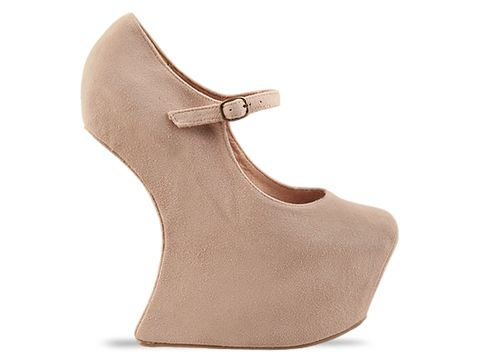 Jeffrey Campbell In Nude Suede Night Walk