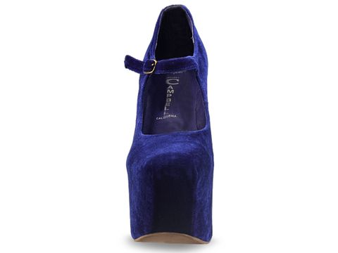 Jeffrey Campbell In Royal Blue Velvet Night Walk
