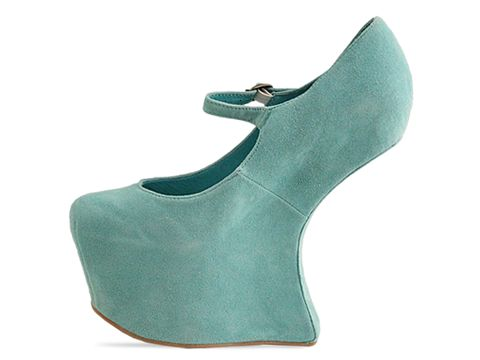 Jeffrey Campbell In Turquoise Suede Night Walk