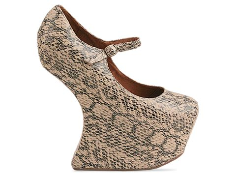 Jeffrey Campbell In Ivory Python Night Walk Exotic