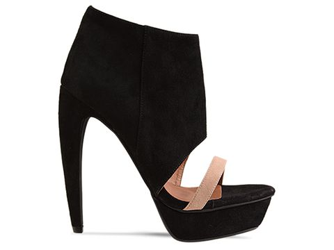 Jeffrey Campbell In Black Nude Suede Nite