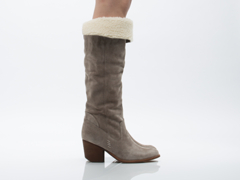 Jeffrey Campbell In Taupe Suede Oakmont