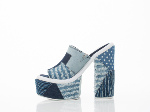 Jeffrey Campbell In Denim Combo Odell