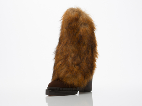 Jeffrey Campbell In Brown Combo Oleg Fur