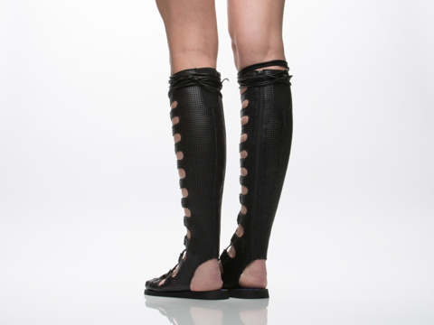 Jeffrey Campbell In Black Punched Olympus