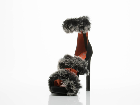Jeffrey Campbell In Black Grey Combo Peludo 2