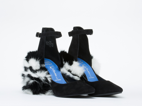 Jeffrey Campbell In Black Suede Black White Pepe