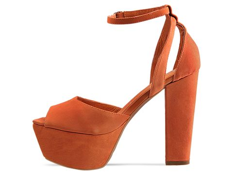 Jeffrey Campbell In Orange Nubuck Perfect 2