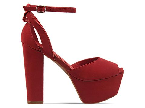 Jeffrey Campbell In Red Nubuck Perfect 2