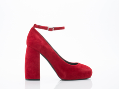 Jeffrey Campbell In Red Suede Phair
