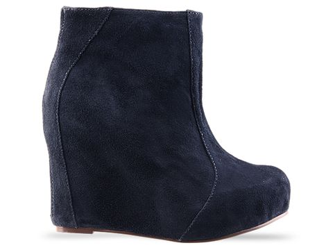 Jeffrey Campbell In Navy Suede Pixie