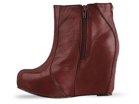 Jeffrey Campbell In Red Leather Pixie
