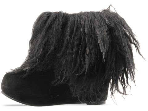 Jeffrey Campbell In Black Suede Pixie Hair