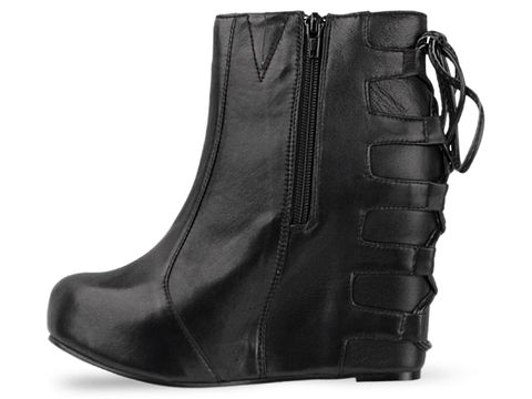 Jeffrey Campbell In Black Leather Pixie Tie