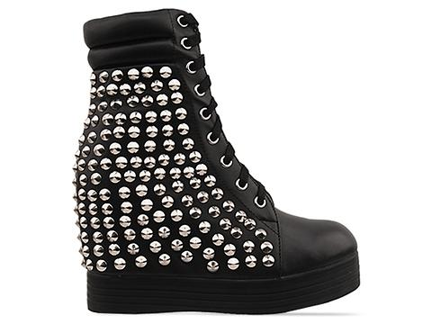 Jeffrey Campbell In Black Silver Plaster