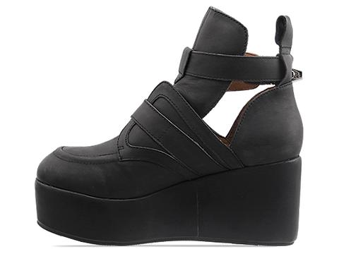 Jeffrey Campbell In Black Washed Platrane