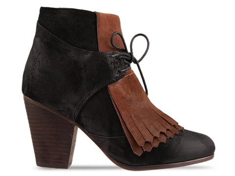 Jeffrey Campbell In Black Brown Suede Pony Up