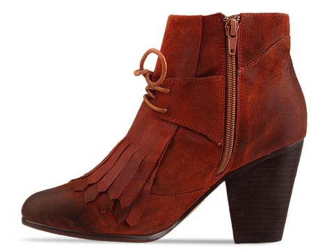 Jeffrey Campbell In Orange Suede Pony Up