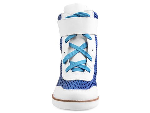 Jeffrey Campbell In White Blue Punch Portici