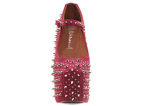 Jeffrey Campbell In Fuchsia Suede Silver Prickly