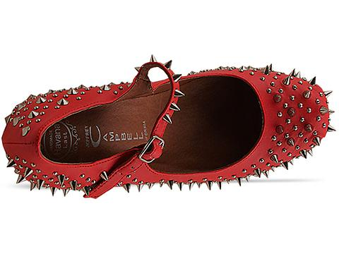 Jeffrey Campbell In Red Silver Prickly