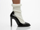 Jeffrey Campbell In Black Patent Ivory Pristine