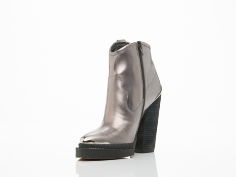 Jeffrey Campbell In Pewter Mirror Quik Draw