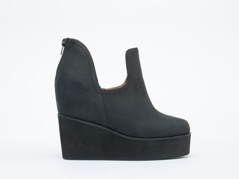 Jeffrey Campbell In Black Greasy Rauch