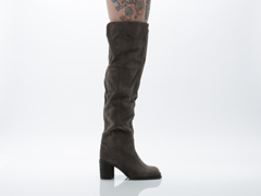 Jeffrey Campbell In Grey Distressed Suede Raylan