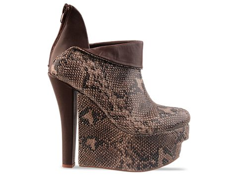 Jeffrey Campbell In Beige Brown Python Right On Exotic