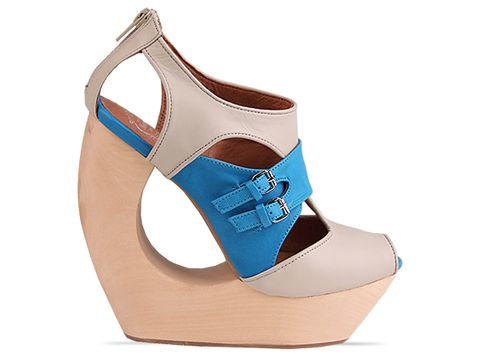 Jeffrey Campbell In Ivory Blue Rock Me