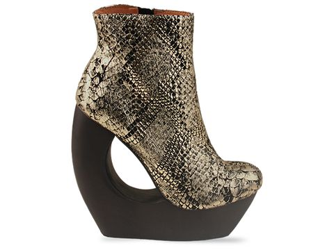 Jeffrey Campbell In Black Gold Snake Rockaway