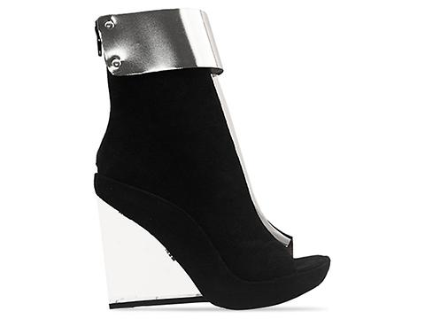 Jeffrey Campbell In Black Suede Silver Clear Roni MC