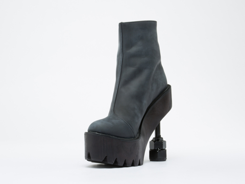 Jeffrey Campbell In Black Washed Rookbee