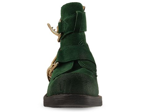 Jeffrey Campbell In Green Suede Roscoe