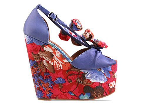 Jeffrey Campbell In Blue Red Floral Rosi Fab