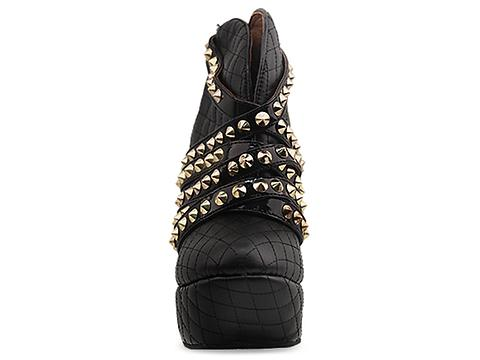 Jeffrey Campbell In Black Quilted Gold Roxbury